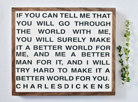 Dickens 17x20 Wood Sign