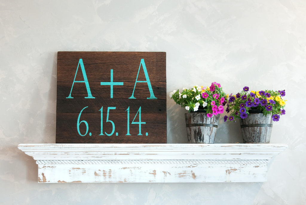 Initials 20x18 Wood Sign