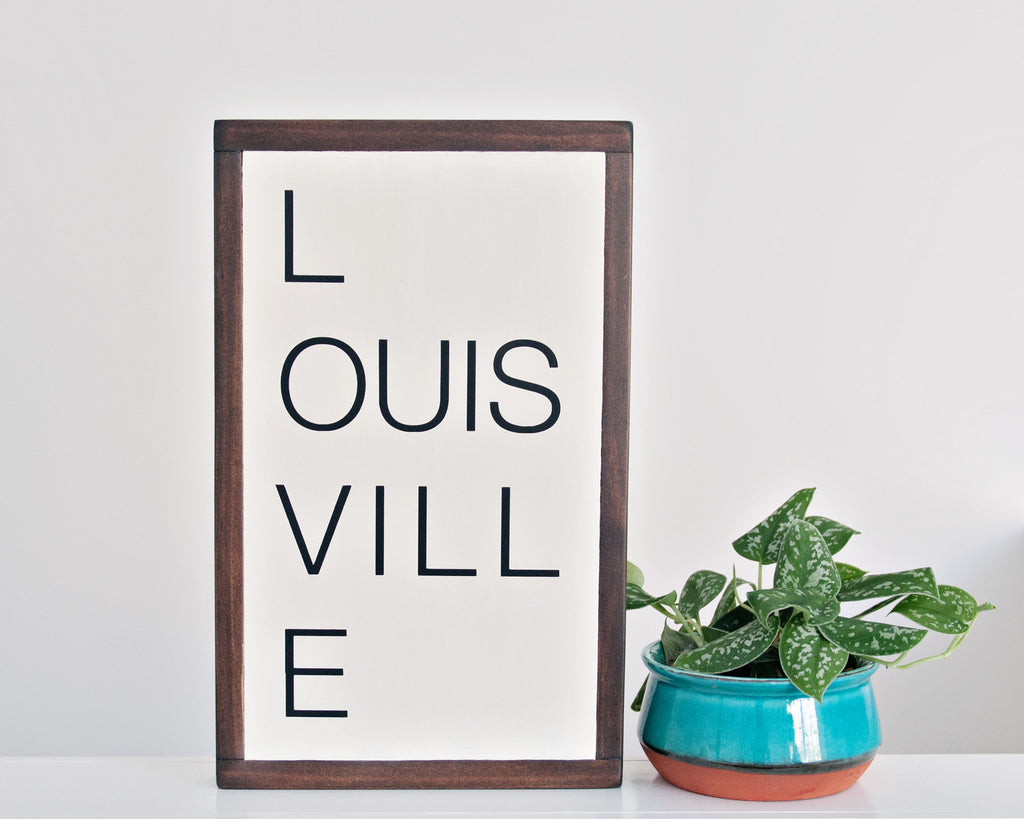 Louisville Wood Sign 10x16