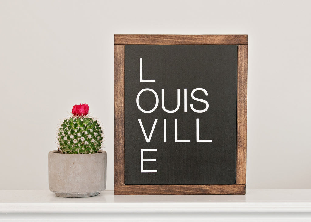 Love Louisville Wood Sign