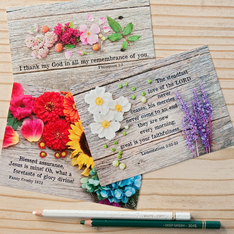 Flat Note Cards (Set of 9) Multi-Pack