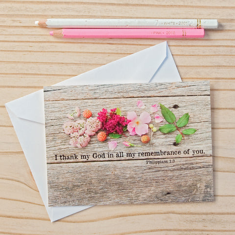 Flat Note Cards (Set of 8)- Philippians 1:3