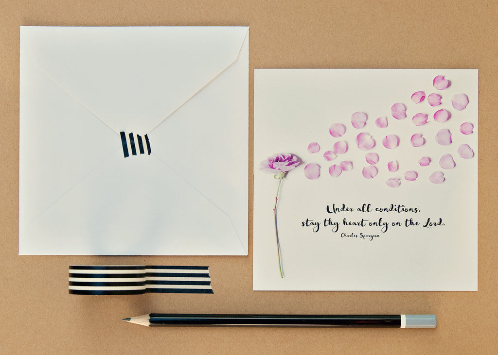 Flat Note Cards (Set of 8)- Stay Thy Heart