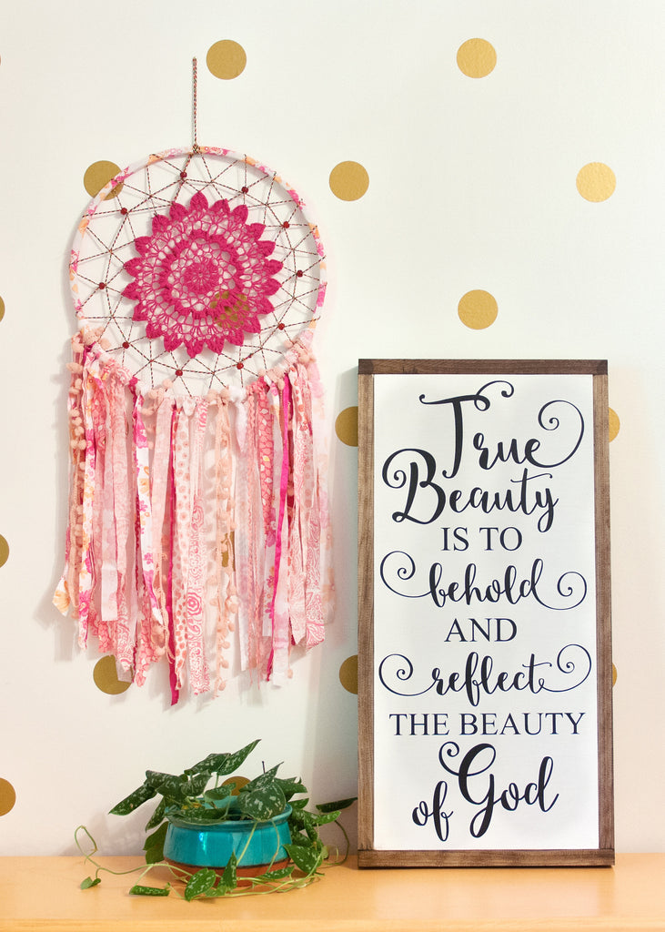 True Beauty Wood Sign 12x24