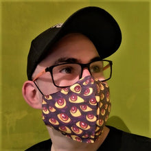 Load image into Gallery viewer, Halloween mask eyes monster Reusable with filter pocket