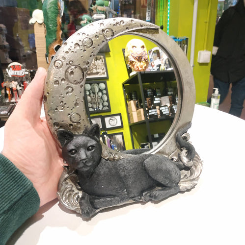 Cat Moon Mirror