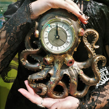 Load image into Gallery viewer, Steampunk Octopus Clock