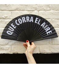 "Load image into Gallery viewer, Hand Fan ""Que corra el aire"""