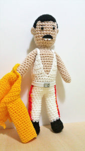 Freddie Mercury With Yellow Jacket Wool Doll