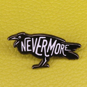 Nevermore Raven Pin Badge