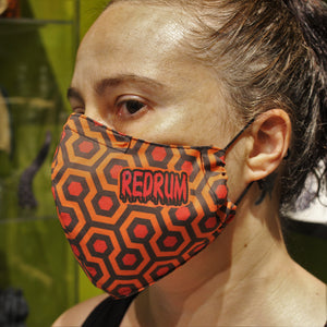 Redrum face mask shining Printed fabric