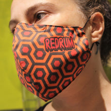 Load image into Gallery viewer, Redrum face mask shining Printed fabric