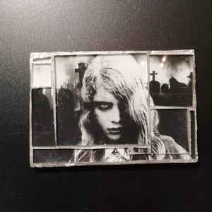 "Glass mosaic magnet  "" Night of the Living Dead """
