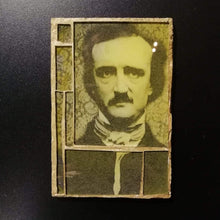 "Load image into Gallery viewer, Glass mosaic magnet  ""Edgar Allan Poe"""