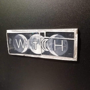 "Glass mosaic magnet  ""Witch"""