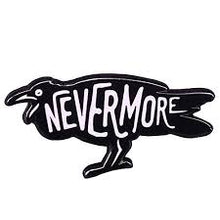 Load image into Gallery viewer, Nevermore Raven Pin Badge