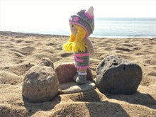 Load image into Gallery viewer, Viking pink Wool Doll