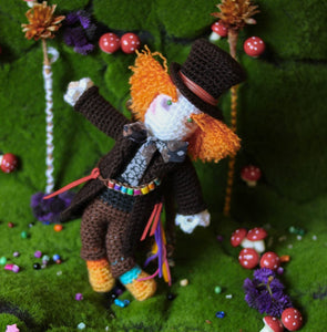 Mad hatter Wool Doll