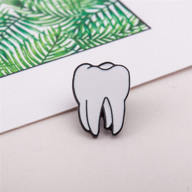 Tooth Pin Badge