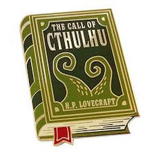 Load image into Gallery viewer, The Call of Cthulhu Book Pin Badge