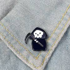 Cute Grim Reaper Pin Badge