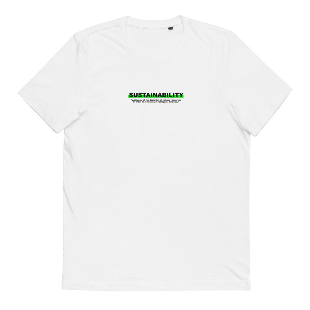 "T-Shirt Statement ""SUSTAINABILITY"" - OLÁ KORK"