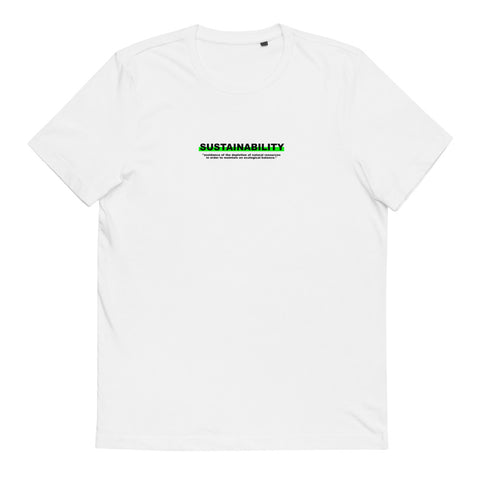 "T-Shirt Statement ""SUSTAINABILITY"" - OLÁ KORK - Vegan Nachhaltig Fair"