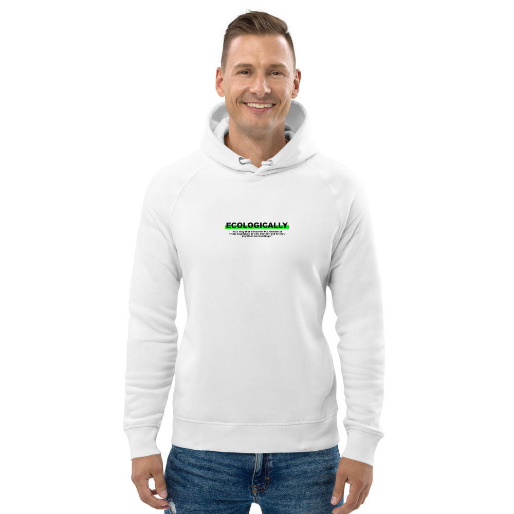 "Hoodie Statement ""ECOLOGICALLY"" - OLÁ KORK - Vegan Nachhaltig Fair"