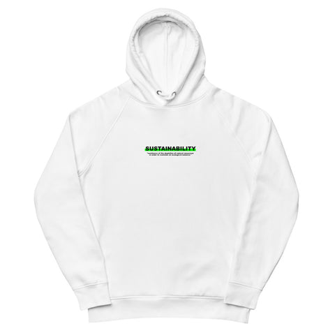 "Hoodie Statement ""SUSTAINABILITY"" - OLÁ KORK - Vegan Nachhaltig Fair"