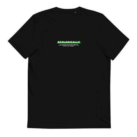 "T-Shirt Statement ""ECOLOGICALLY"" - OLÁ KORK - Vegan Nachhaltig Fair"