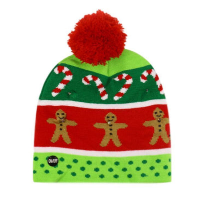 {45% Off Today!}Christmas LED Beanies Pretty Little Wish.com Green & Red
