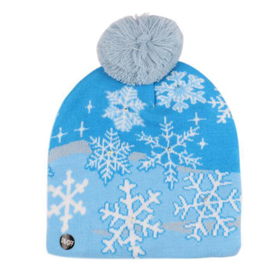 {45% Off Today!}Christmas LED Beanies Pretty Little Wish.com SNOWFLAKE