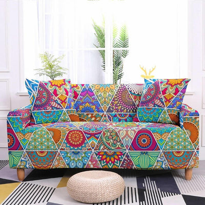 Ethnic Flower Bohemian Covers Elastic Sofa Cover - Pretty Little Wish.com