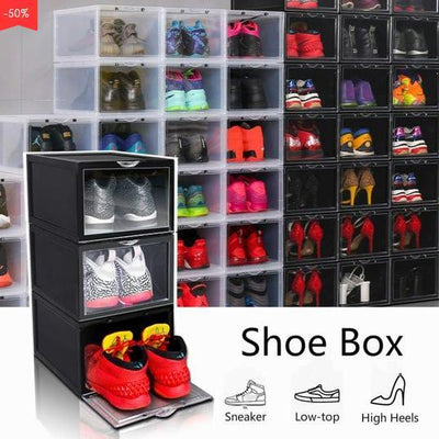 Last Day Promotion - Drawer Type Shoe Box-Stacking Storage Box Shoes Container - Pretty Little Wish.com