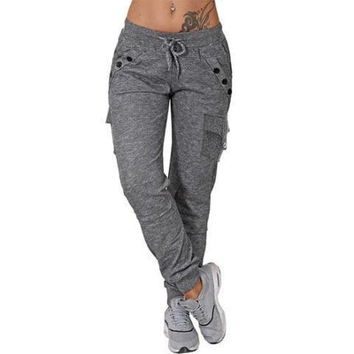 Women's Casual Elastic 6 Pockets Thermal Insulation Fabric Sweatpants - Pretty Little Wish.com