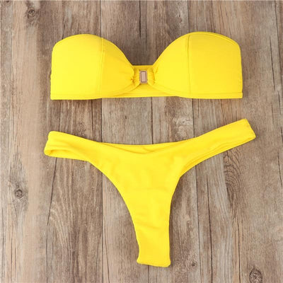 Yellow Bikinis - Gorgeous Bikini - Pretty Little Wish.com