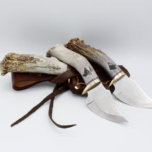 Load image into Gallery viewer, Antler Handle Handmade Skinner Fixed Blade
