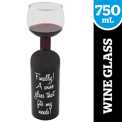 BigMouth Inc Ultimate Wine Bottle Glass, Holds Full Bottle of 750ml Wine