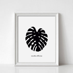 Monstera Leaf Digital Wall Print - Salt&Printer