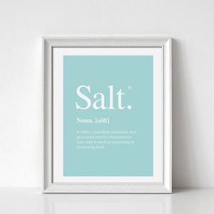 Salt Definition Digital Wall Print - Salt&Printer