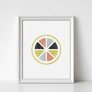 Citrus Slices Digital Wall Print - Salt&Printer