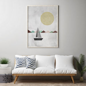 Geometric Sailboat Digital Wall Print - Salt&Printer