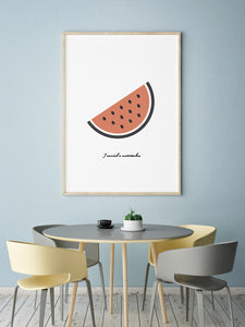 Watermelon Digital Wall Print - Salt&Printer