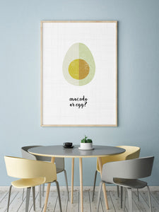 Avocado or Egg Digital Wall Print - Salt&Printer