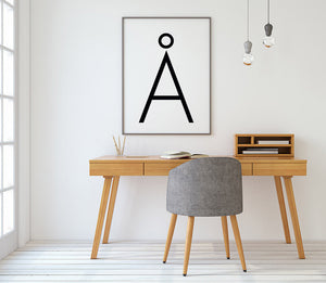 Letter A Digital Wall Print - Salt&Printer
