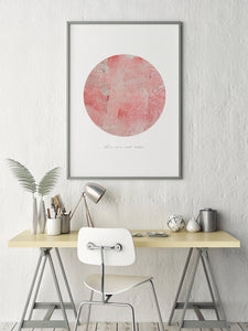 Pink Circle II Digital Wall Print - Salt&Printer