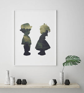 Boy and Girl Digital Wall Print - Salt&Printer