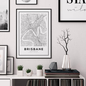 Brisbane City Map Print - Salt&Printer