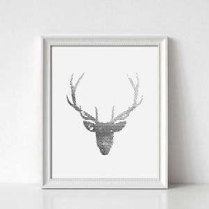 Deer Digital Wall Print II - Salt&Printer