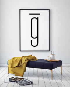 Letter G Digital Wall Print - Salt&Printer